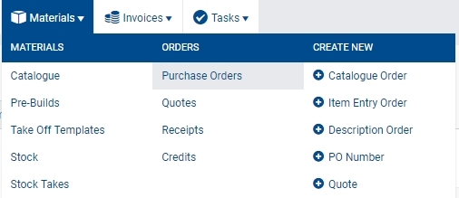 how to create a purchase order simpro